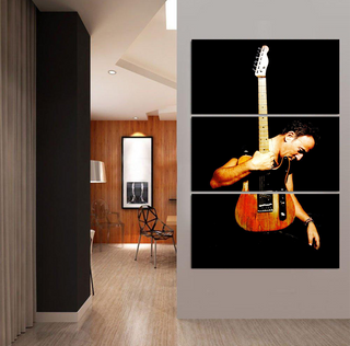 Bruce Springsteen Guitar 3 Piece Canvas