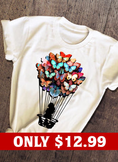 Balloon And Butterfly T-shirt