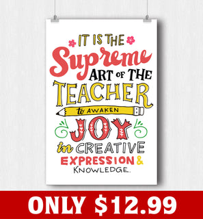 Teacher Awaken Joy Poster