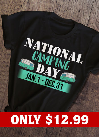 National Camping Day T-shirt