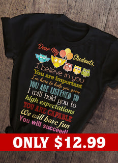 Birds And Teacher T-shirt