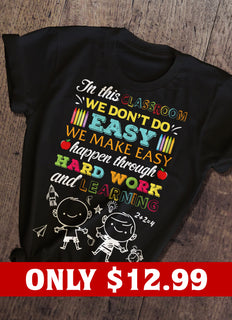 Easy And Teacher T-shirt