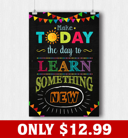 The Day To Learn Something New Poster