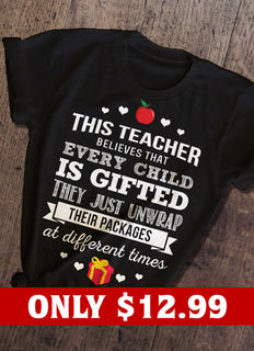 Gifted And Teacher T-shirt