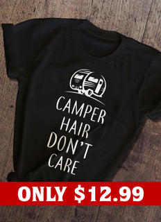 Camper Hair Don't Care T-shirt