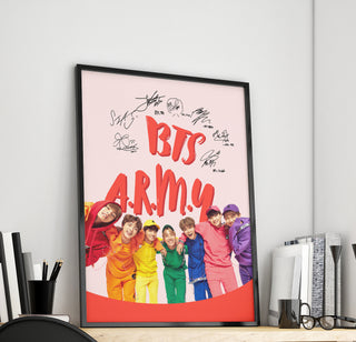 BTS A.R.M.Y Canvas With Member's Signature