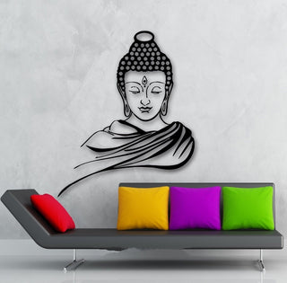 3D Vinyl Poster Classic Religion Buddha Wall Decor Sticker Removable