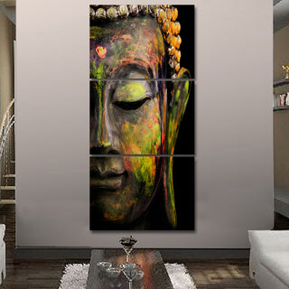 3 Piece Buddha Painting Canvas  Wall Decor