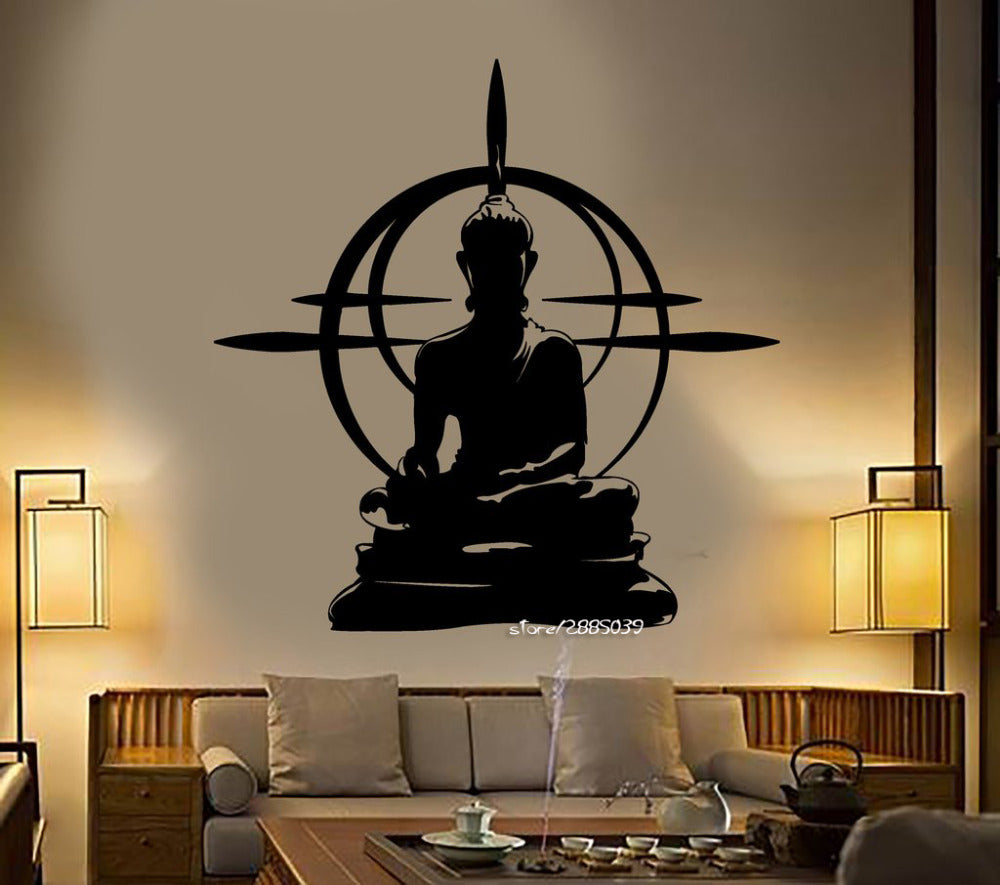 Buddha Vinyl Wall Decor Stickers Removable