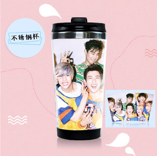 New GOT7 Stainless Steel Double Layer Coffee Mug