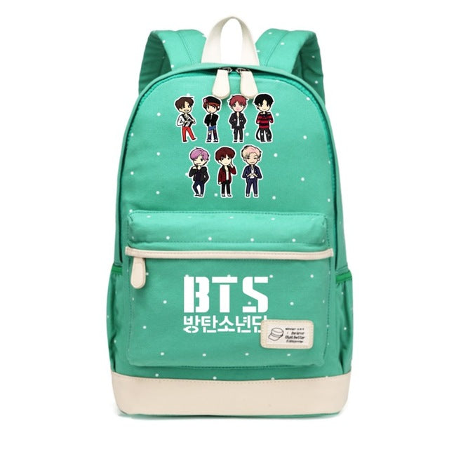 BTS  Canvas Backpack Girls, Student, School Bags