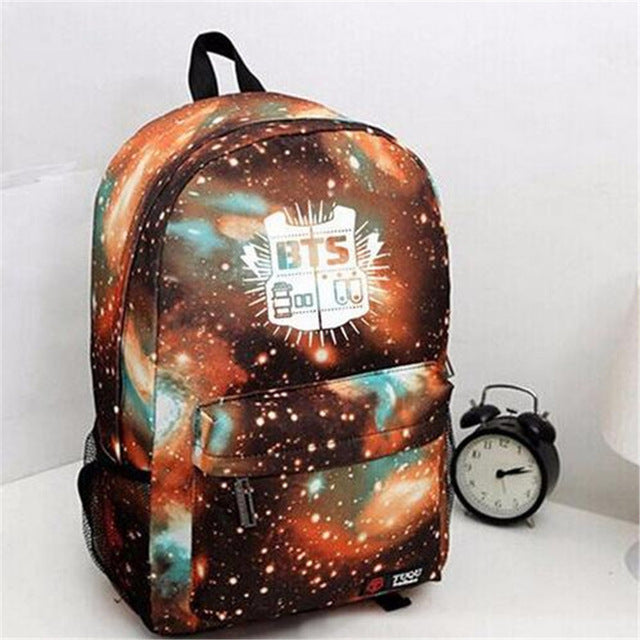 BTS 3D Fashion Young Boy&Girls High Quality Waterproof Backpack
