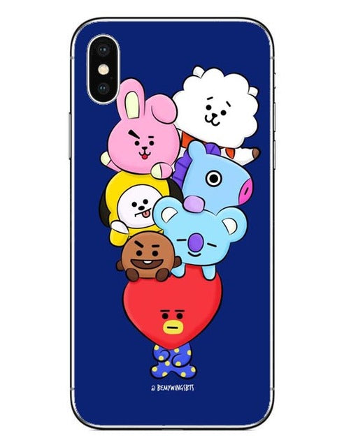 ff91023c9bb BTS BT21 Hard PC Phone Cases Cover for iPhone 5 5s SE 6 6S Plus 7 ...