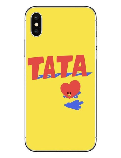 BTS BT21 Hard PC Phone Cases Cover for iPhone 5 5s SE 6 6S Plus 7 7Plus 8 8 Plus X 10