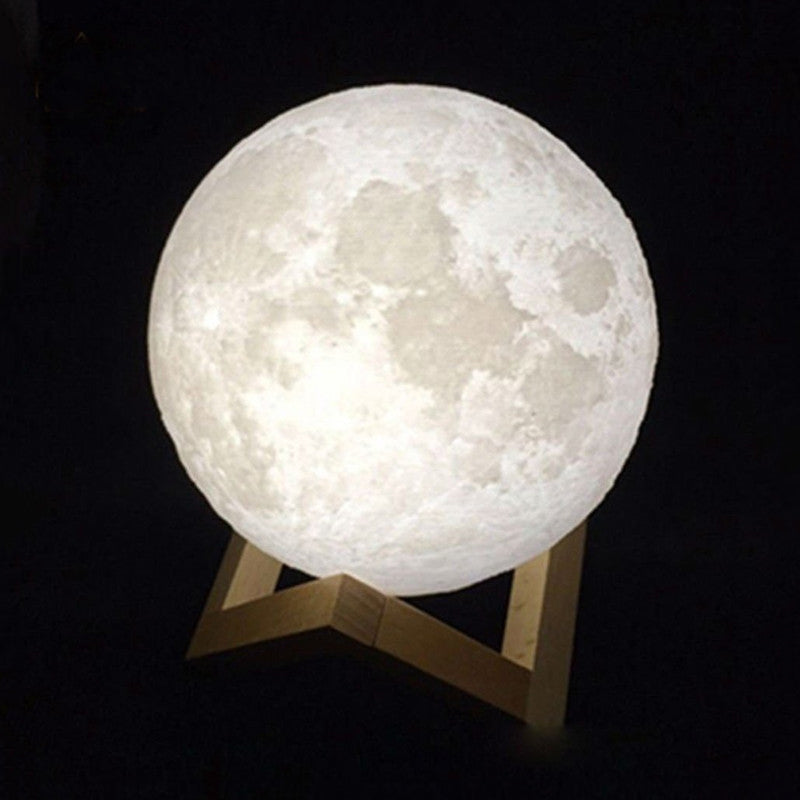 Moon 3D Night Light Lamp USB Charging With Touch Control