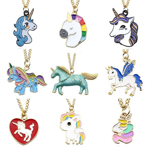 Cute Unicorn Charm Necklaces