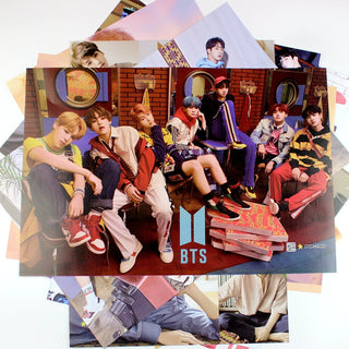 8 Posters/ Set  (42x29cm) NEW BTS WINGS  Wall Stickers