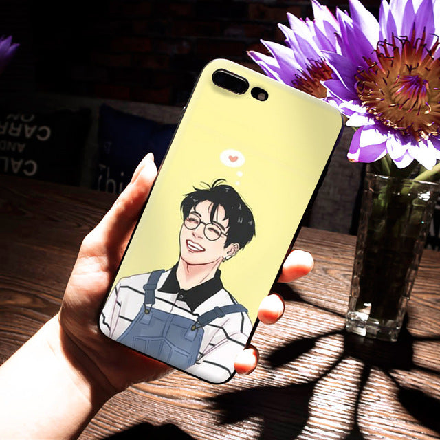 BTS High Quality Phone Cover for Apple iPhone 8 7 6 6S Plus X 5 5S SE 5C