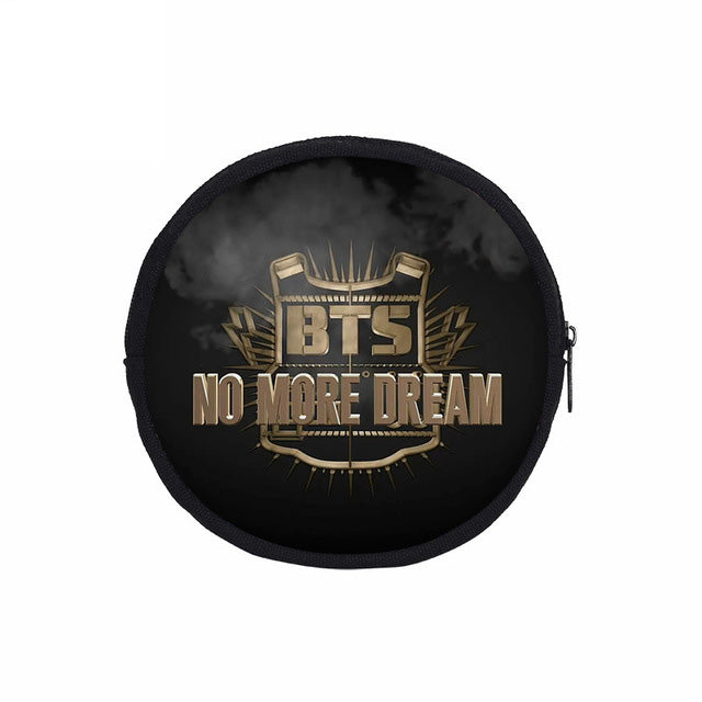 BTS Round Coin Purses Canvas Wallet For Women