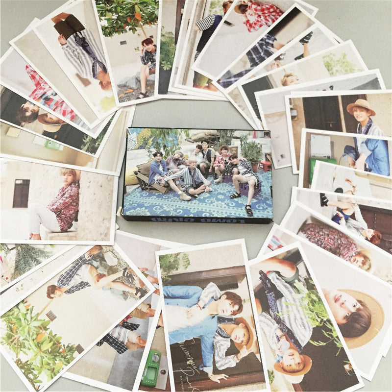 30pcs BTS Summer Package Photo Poster LOMO CARD Collection