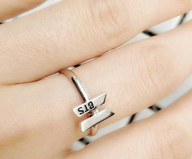 BTS GOT7 WANNA ONE TWICE Sign Ring Stainless steel ring