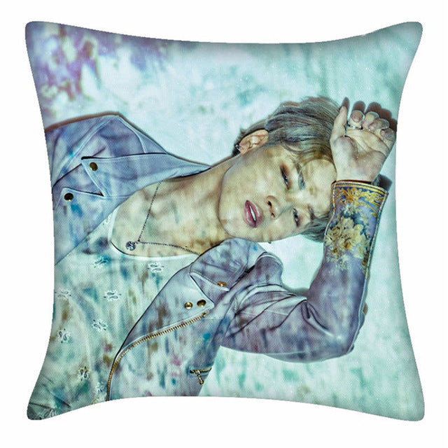 "BTS Cushion Cover Soft Sofa Room Decor 18"" Two Sides"