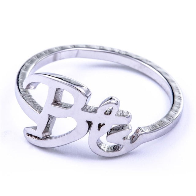 BTS Bias Name Silver Ring