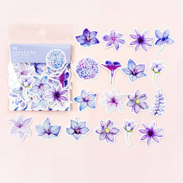 45 Pcs/Pack Japanese Decoracion Journal Cute Diary Flower Stickers Scrapbooking School Supplies