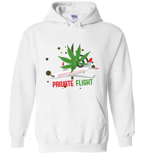 Private Flight 420 Men's Hoodie
