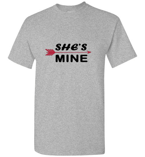 His-Hers She's Mine Arrow Couples T-Shirt