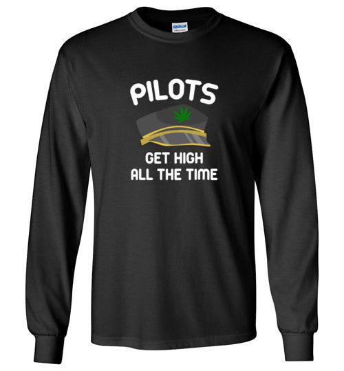 Pilots Get High All The Time Shirts And Hoodies Various Colors