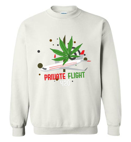 Private Flight 420 Men's Sweatshirt