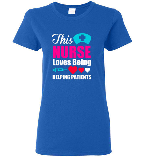 This Nurse Loves Helping Patients Ladies Short-Sleeve Tee