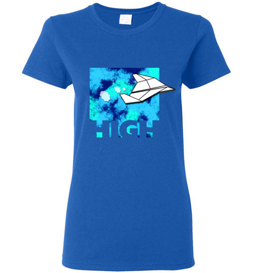High Paper Plane Women's T-Shirts And Tank Tops Various Colors