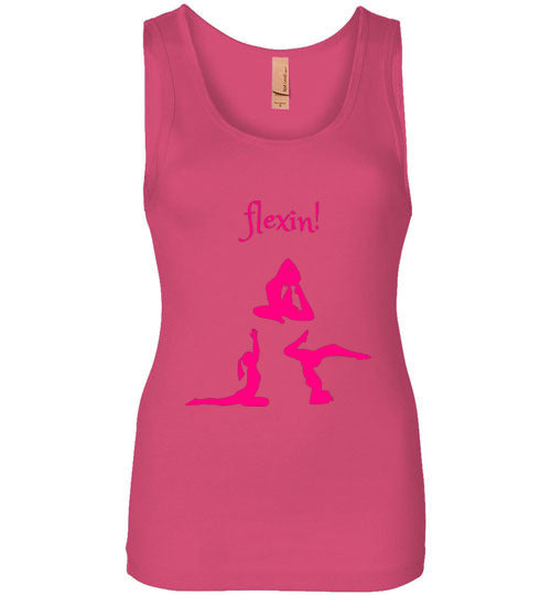 Women's Pink Yoga Flexin! Tank Top Various Colors