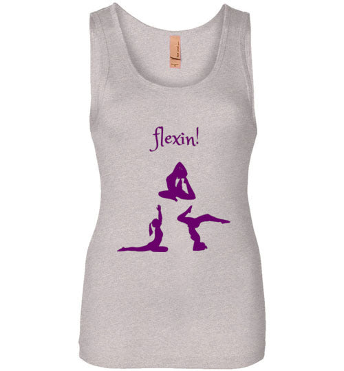 Women's Purple Yoga Flexin! Tank Top Various Colors
