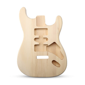 DIY Unfinished Guitar Body Basswood Gifts For Fender ST Style Electric Guitar