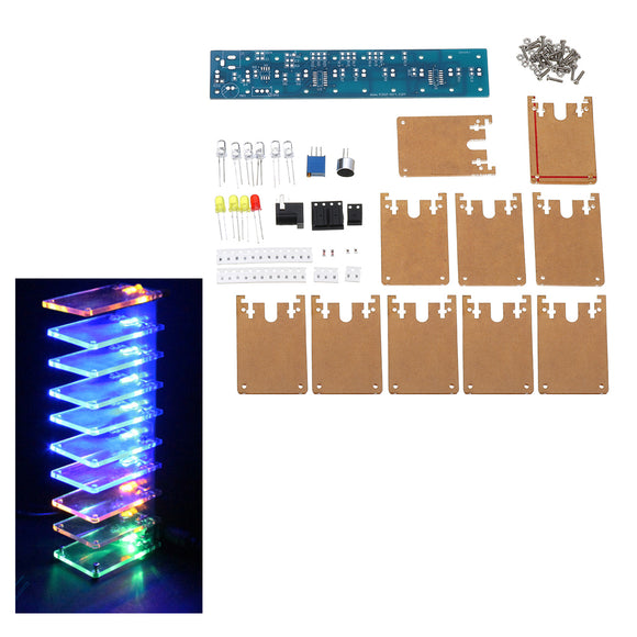 DIY LED Flash Kit Voice-activated Audio Frequency Spectrum Crystal LED Lamp Kit