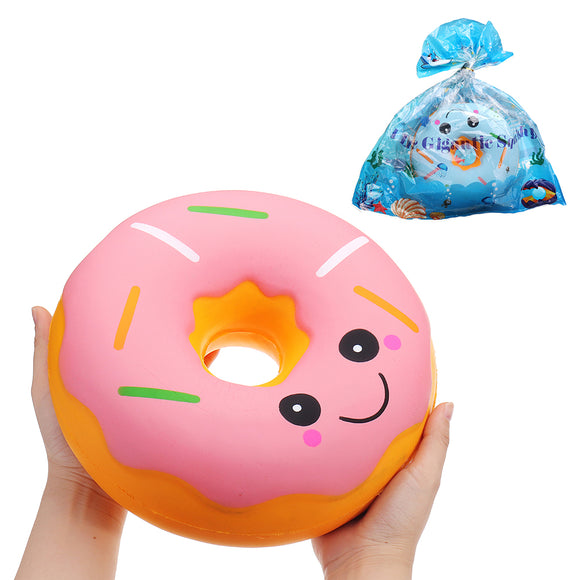 SanQi Elan Huge Donut Squishy Jumbo 25*25*10CM Soft Slow Rising With Packaging