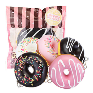 Cake Squishy Chocolate Donuts 9CM Scented Doughnuts Squeeze Jumbo Gift Collection With Packaging