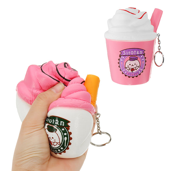 Ice Cream Tea Cup Squishy kawaii Squeeze Toy 10cm Sweet Slow Rising For Girls