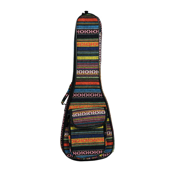 23 Inch Ukulele National Wind Color Bag with Shoulder Belt for Mini Guitar Ukulele