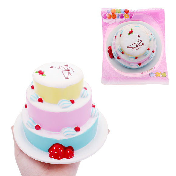 Strawberry Cake Squishy 15*10cm Slow Rising With Packaging Collection Gift Soft Toy