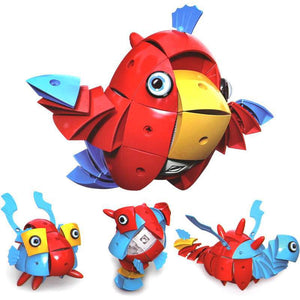 Parcae NS001 90PCS Magnetic Magic Wisdom Ball Red Parrot Blocks Various Deformation Puzzle Toys