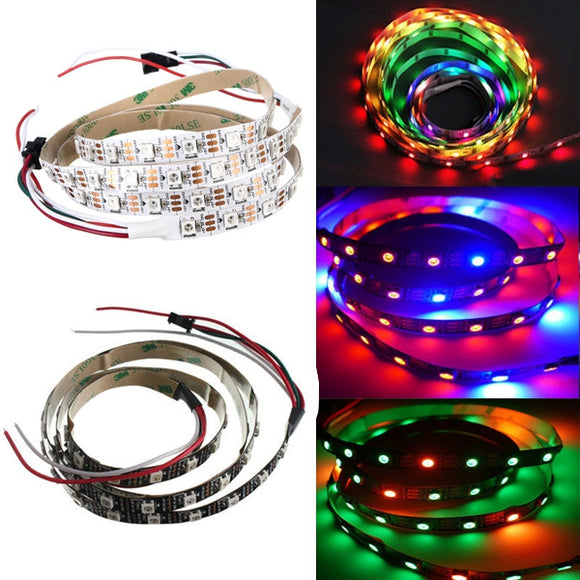 1M WS2812B 5050 RGB Non-Waterproof 60 LED Strip Light Dream Color Changing Individual Addressable