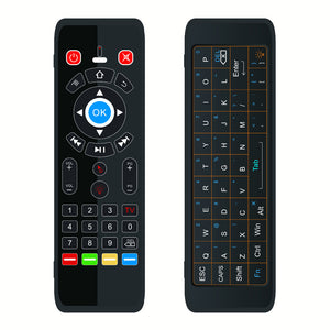 T16 2.4G Wireless 7 Color Backlit Dual Keyboard Full Touchpad Air Mouse Airmouse IR learning Remote