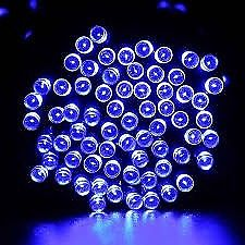 Brand New, Solar Powered Garden Fairy Lights Set Of 100LED lights ( BLUE )