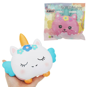 Kiibru Unicorn Burger Squishy 17x16.5x2.5CM Licensed Slow Rising Soft Animal