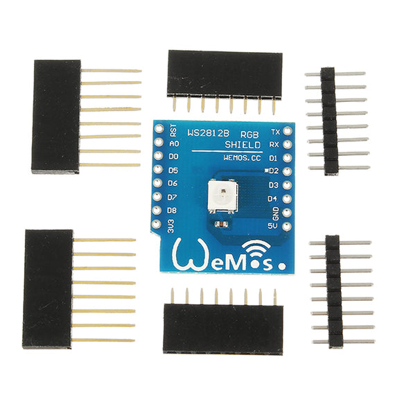 5Pcs Wemos WS2812B RGB Shield Module For Wemos D1 Mini