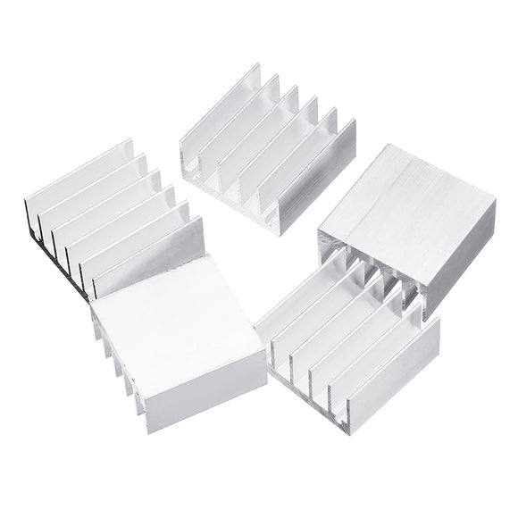 5Pcs 30x30x15mm Pure Aluminum Chip Radiator Power Amplifier Heat Sink Block